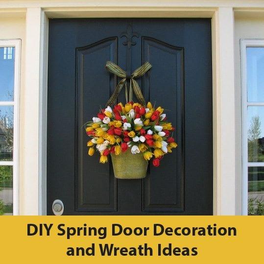 DIY Spring Door Decoration and Wreath Ideas | CLERA WINDOWS + DOO