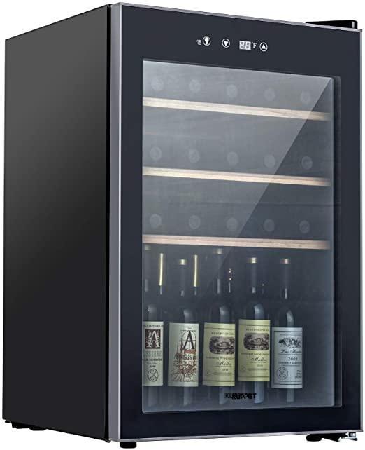 Amazon.com: KUPPET Compressor 36 Bottle Wine Cooler, Counter Top .