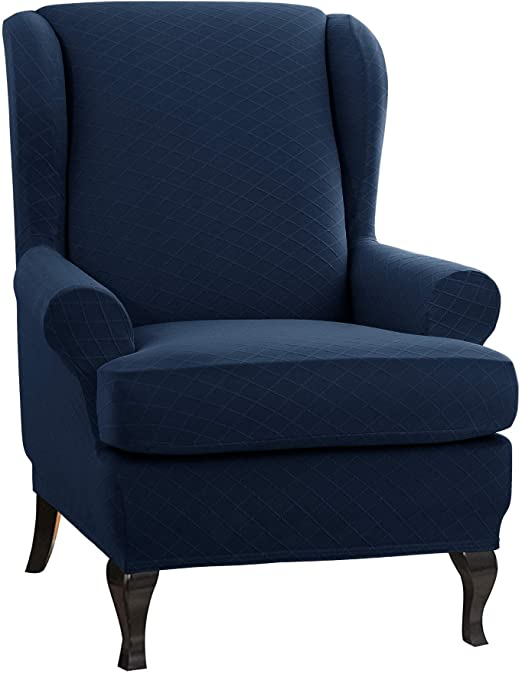 Amazon.com: CHUN YI Wing Chair Slipcover 2 Piece, Wingback Chair .