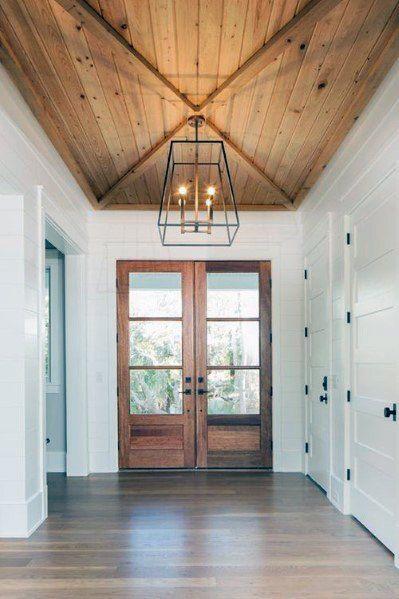 Top 60 Best Wood Ceiling Ideas - Wooden Interior Designs | Foyer .