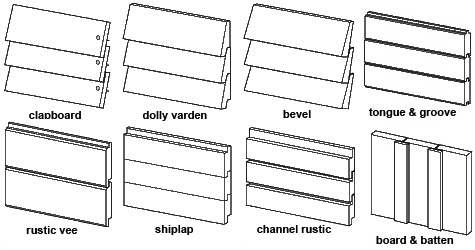 Wood Siding Pattern Options | PencilJazz Architecture of Maine .