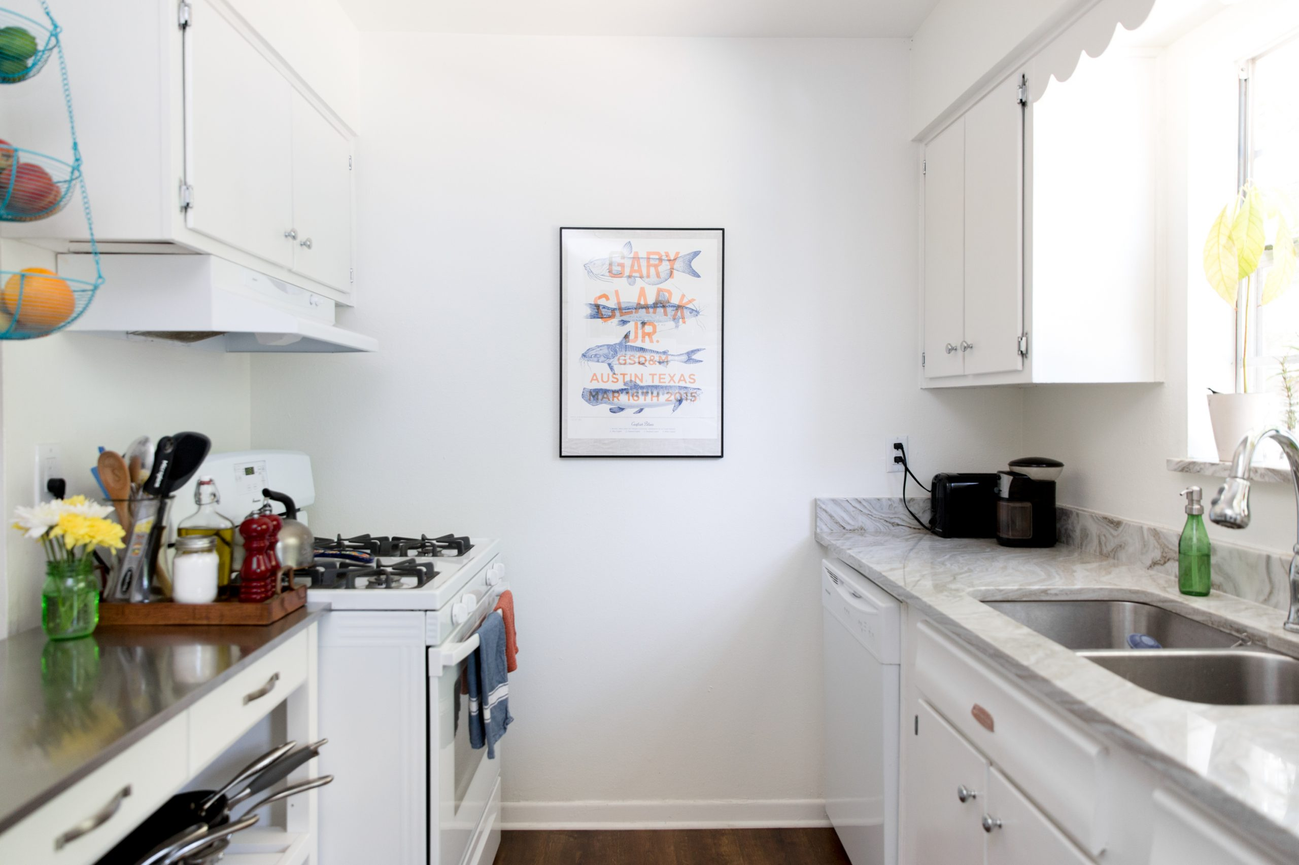 Working with a limited counter space