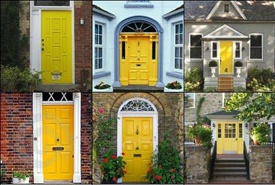 Remodelaholic | Sunshiny day! Yellow Entry Door | Yellow front .