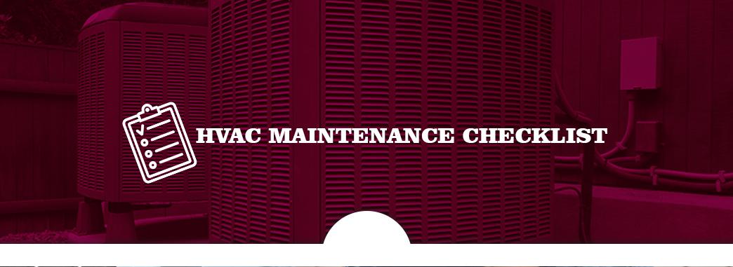 HVAC Maintenance Checklist   Preventative Maintenance Gui